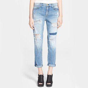 Current/Elliott Fling Distressed Boyfriend Jeans